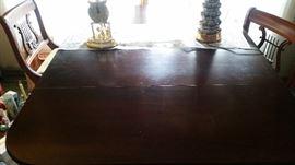 FOLD DOWN MAHOGANY TABLE