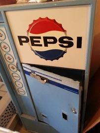 antique pepsi machine