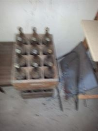 VESS  SODA BOTTLES AND CRATE