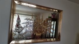 VERY UNIQUE MIRROR WITH GOLD FLOWERS INSIDE COST OVER $400 NEW