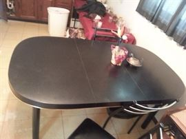 KITCHEN TABLE HAS 4 CHAIRS