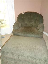 club chair & ottoman