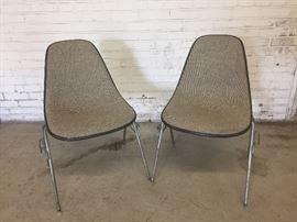 Pair Herman Miller Eames chairs