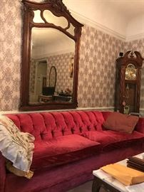 Antique Mirror , Vintage Sofa , Grand Father Clock
