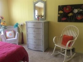 Wicker bedroom pieces