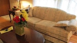 couch ,end tables, coffee table, lamps
