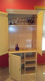 Nice Cabinet, Lots of Great Wine Glasses