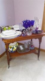 Platters, Wine Glasses, Victorian Table