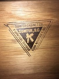 Sumter Cabinet Co. Sumter, S.C. Furniture