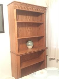 Handcrafted Bookcase Shelf unit with ornate accents