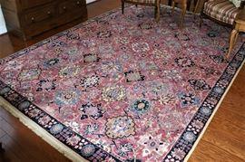 Karastan 100% wool rugs with pads