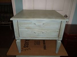 Shabby chic tables - we've used them in a living room setting and also in a bedroom - versatile.