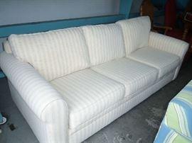 Cream Striped Couch -