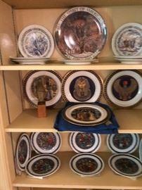 Commemorative plates.