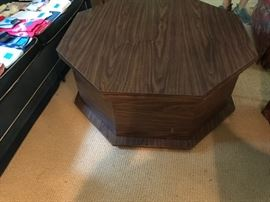 Great midcentury octagonal coffee table that...