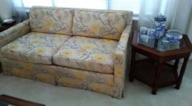 Loveseat Too, One of Two End Tables
