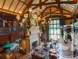 Interior shot of Grand Hall. More Photos are posted on our website @ https://aether.estate/scott-jones-estate-sale