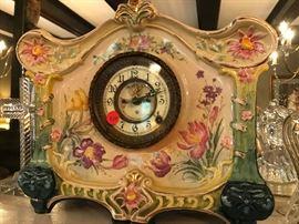 Antique Ansonia Royal Bonn mantle clock