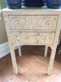 2-drawer painted side table