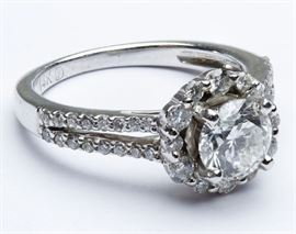 14k Gold and Diamond Engagement Ring