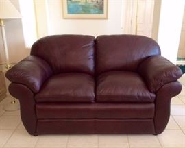 LaZBoy Leather Love Seat