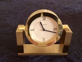 Tiffany & Co. Brass Clock