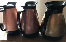 70's coffee pitchers. Decaf, tea, or me?