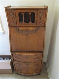 Antique oak dropfront desk