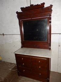 East lake Dresser marble Top w/ Beveled Mirror