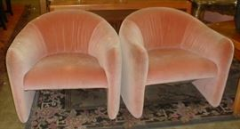 pair of pink 1960's chairs $18.00