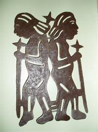 Haitian Steel Drum Art Piece by Max Prophete