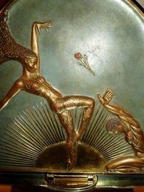 Erte' Bronze Table Mirror
