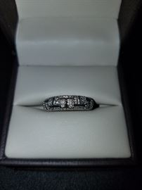 Diamond Wedding Band in 14kt White Gold size 6
