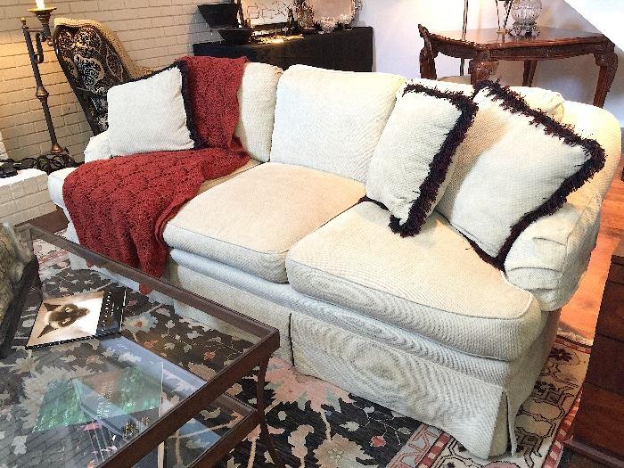 Custom Chenille Sofa.
