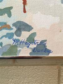 Original Painting by Dallas Based Artist Margaret Hagstrom Dunlap.