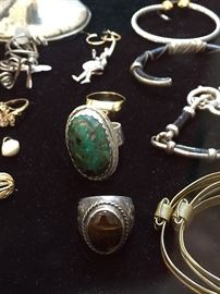 Sterling & Costume Jewelry.