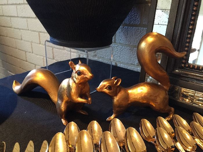Gold Leafed Squirals by Anthony USA.