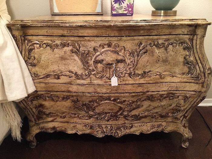 Antique French Designer Chest with Designer Finish. Bought at Design Trip in Paris. Gorgeous!!