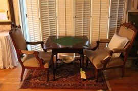 Victorian game table