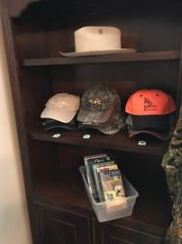Stetson , caps and outdoor tapes and CD's