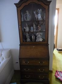 Jasper Cabinet Secretary Bookcase with key. Drop Down Desk/ Cubby holes 3 Drawer Storage
