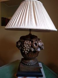 Unless you know a good dentist, don't try to eat the fresh fruit off of this lamp.