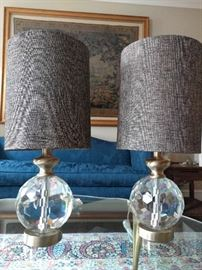 PAIR of Surya Fairfield Glam Table Lamps, retail for a paltry $403.00 each.                                                      Don't believe me? Check out their website and look for item #FFD100-TBL.                                                       Umm hmm, doubters...   ;-)