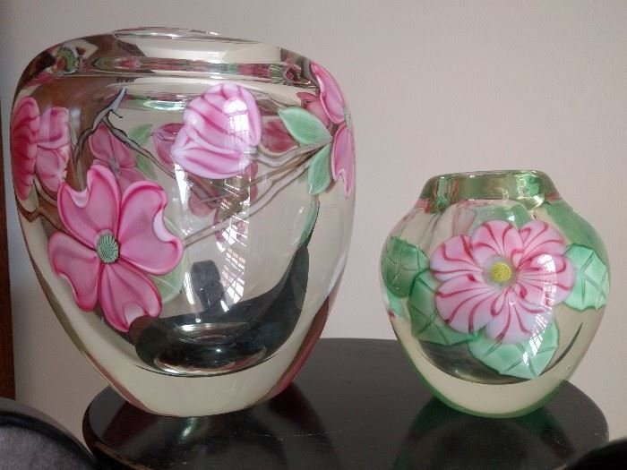 Hand blown Orient & Flume Paperweight Vase Artists: Greg Held & Bruce Sillars, from Chico, CA