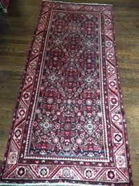 Vintage Persian Malayer runner, hand woven, 100% wool face, measures 3-1 x 6-5.