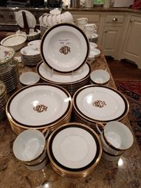 "40-piece set of Christian Dior china, ""Monogram Black""; retired pattern.                                                            Service for 8 at the house, the owner has four more place settings, if interested."