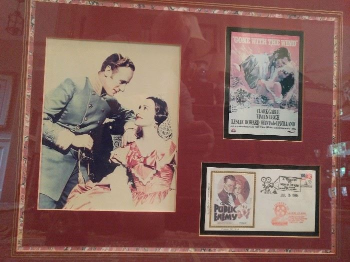 Nicely framed Olivia De Havilland autograph and tribute.