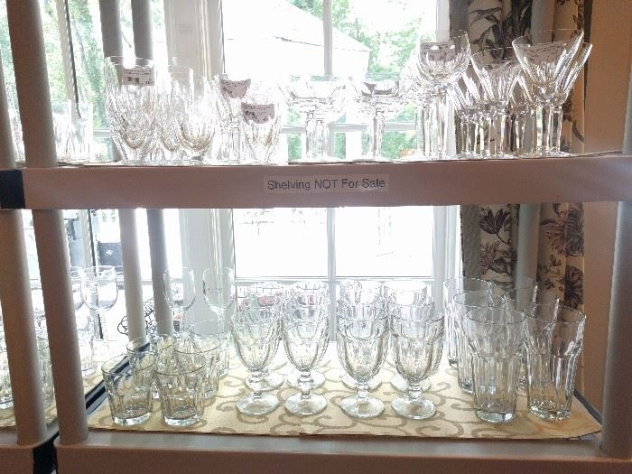 Lord at the stemware!                                                  Come buy it all! There's more, but I have to dig it out of the cabinets before Friday - don't be pushy!
