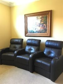 Leather Theater Seating from Florida Leather Gallery