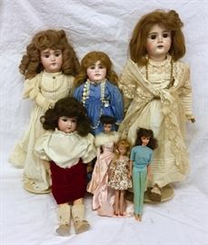 German Bisque Dolls & Early Barbies